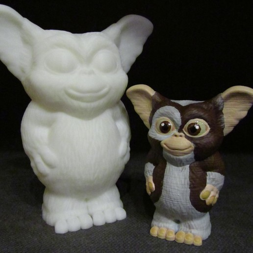 Gizmo Painted.JPG Download free STL file Gizmo (Easy print no support) • Model to 3D print, Alsamen