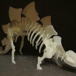 Descargar STL gratis Stegosaurus 3D Puzzle Construction Kit , Alsamen