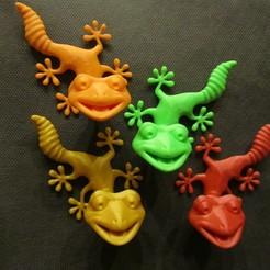 Archivos 3D gratis Fridge Magnet Climbing Gecko , Alsamen