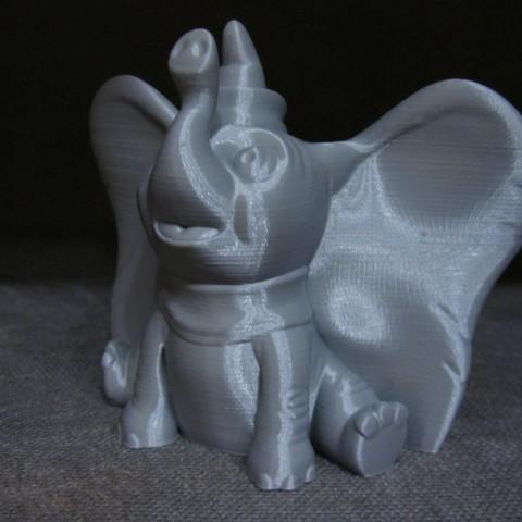 Dumbo 4.JPG Télécharger fichier STL gratuit Dumbo (Impression facile sans support) • Design à imprimer en 3D, Alsamen
