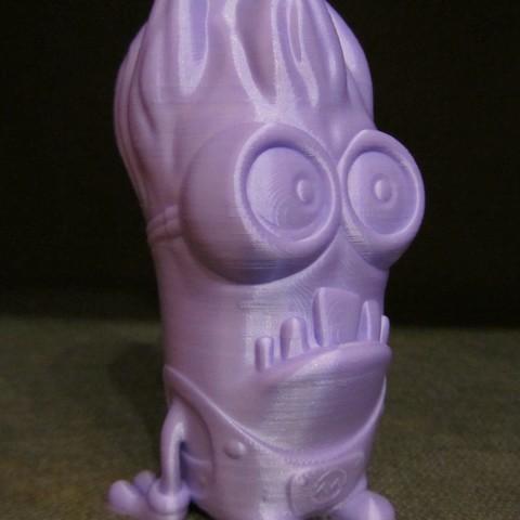 Evil Minion.JPG Download free STL file Evil Minion (Easy print no support) • 3D printer object, Alsamen