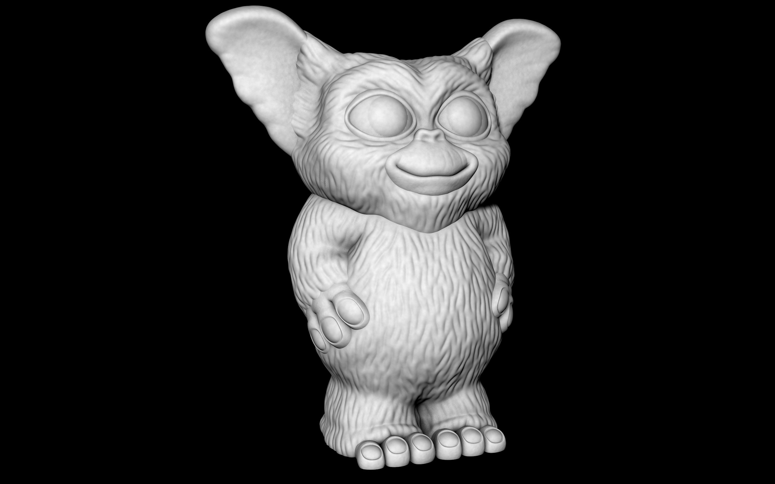 Gizmo.jpg Download free STL file Gizmo (Easy print no support) • Model to 3D print, Alsamen