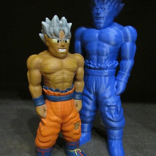 Goku-Painted.jpg Download free STL file Goku (Easy print no support) • 3D printing template, Alsamen