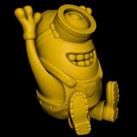 Happy Minion.jpg Télécharger fichier STL gratuit Happy Minion (Impression facile sans support) • Objet pour impression 3D, Alsamen