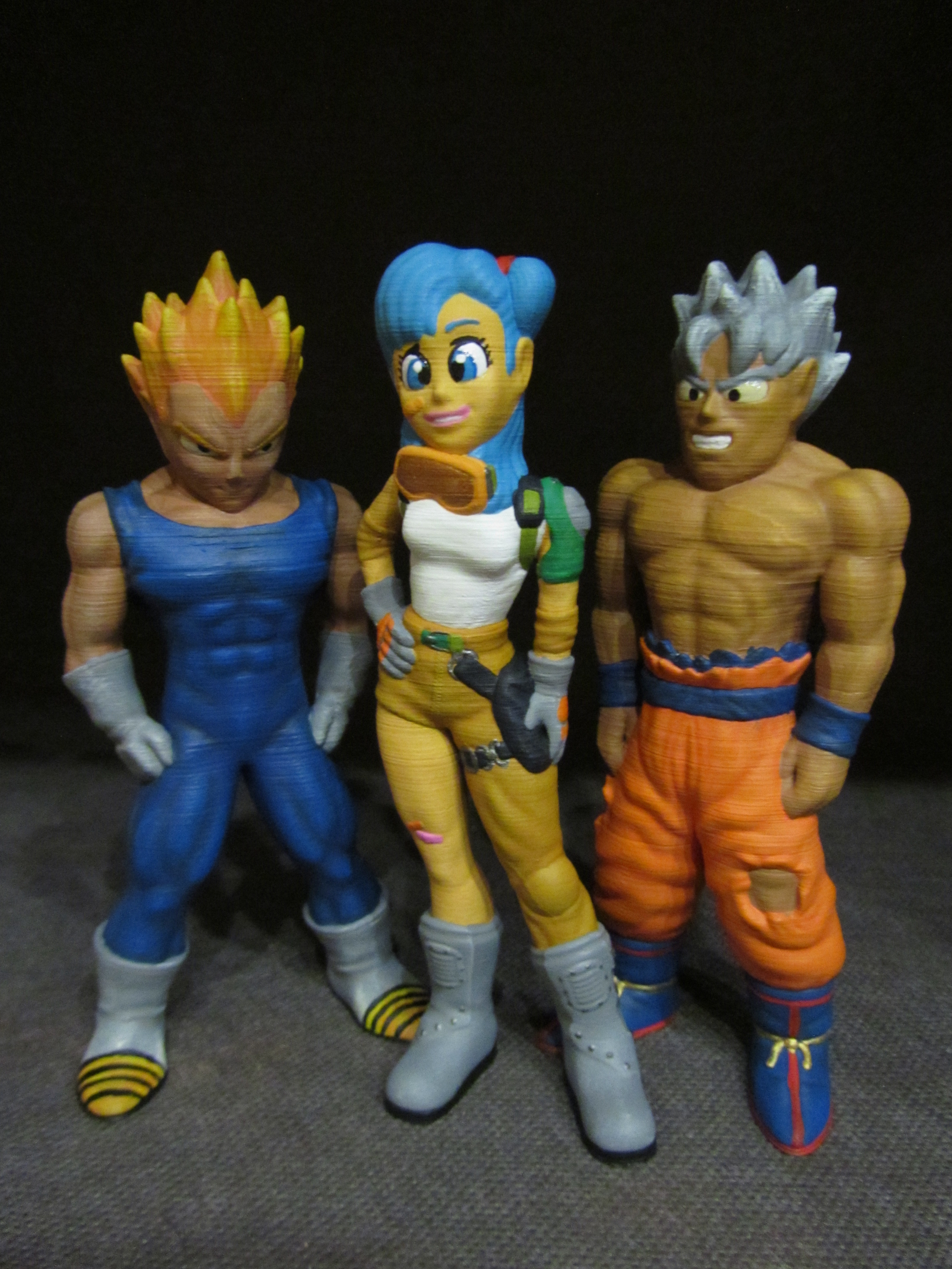 Dragon-Ball-Collection-Part-1.jpg Download free STL file Bulma (Easy print no support) • 3D printable model, Alsamen