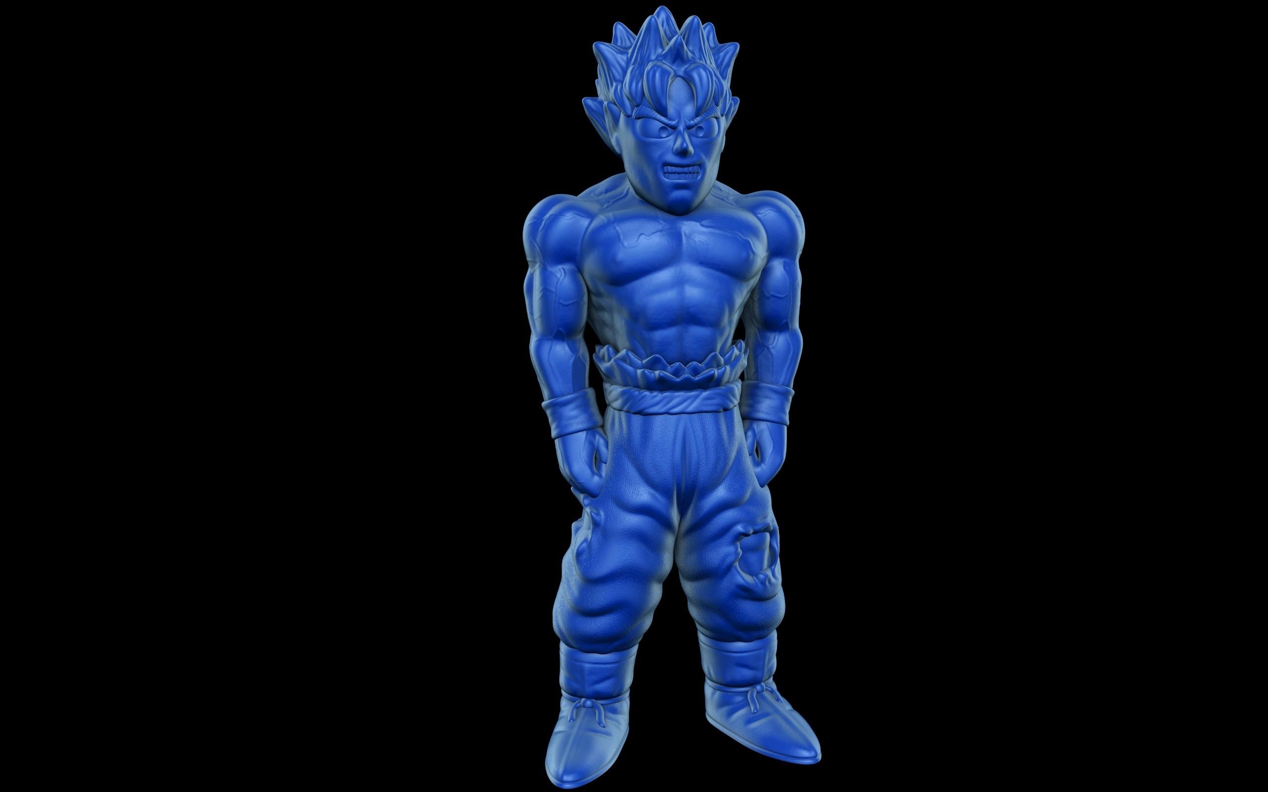 Goku.jpg Download free STL file Goku (Easy print no support) • 3D printing template, Alsamen