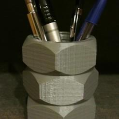 Fichier 3D gratuit Porte-stylo à écrou, Alsamen
