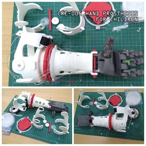 Descargar diseños 3D gratis CRE-05 Prótesis de Mano para Niños, crewolprint3D
