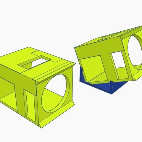 Download free 3D printer templates Hawksky Firefly Micro Case 0° and 25°, Gophy