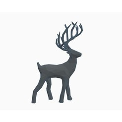 Free 3d printer files Low Poly Reindeer, Gophy