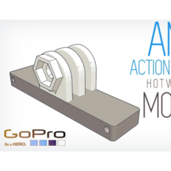Free 3d printer designs Any GoPro style camera Hotwheels mount, Gophy