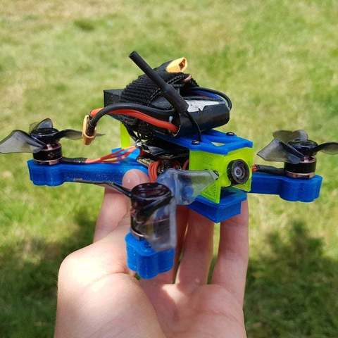 "Download free 3D print files SPDVL124 - 2.5"" Racing / Freestyle Micro Quad Frame, Gophy"