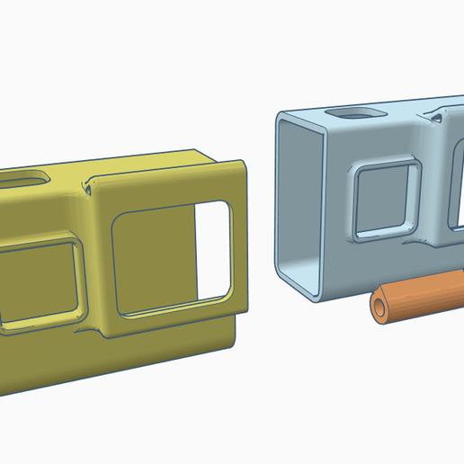 hero567sscase.PNG Télécharger fichier STL gratuit HERO5 et plus Boîtier / Montage Spectre • Design imprimable en 3D, Gophy