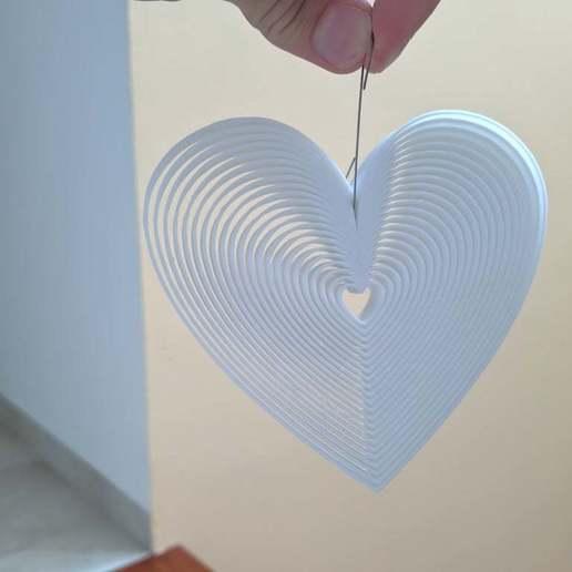 IMG_20200429_155202.jpg Download free STL file Trippy Heart Deco • 3D printer template, Gophy
