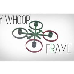 Free 3d printer files ULTRA LIGHT tinywhoop frame, Gophy