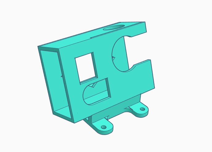 hero3_mount.PNG Télécharger fichier STL gratuit Clone Readytosky Alien Hero3 / Monture 3+ • Modèle pour imprimante 3D, Gophy