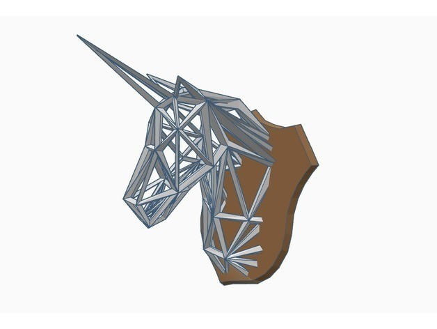 f4de87171524759219d648d6b84138e2_preview_featured.jpg Download free STL file Wireframe Unicorn Trophy • Template to 3D print, Gophy