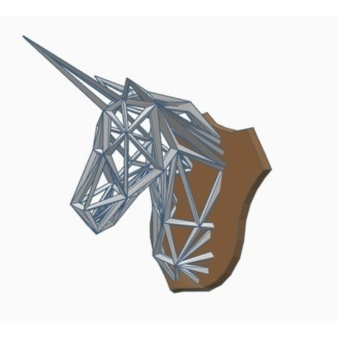 Download free 3D printing models Wireframe Unicorn Trophy, Gophy