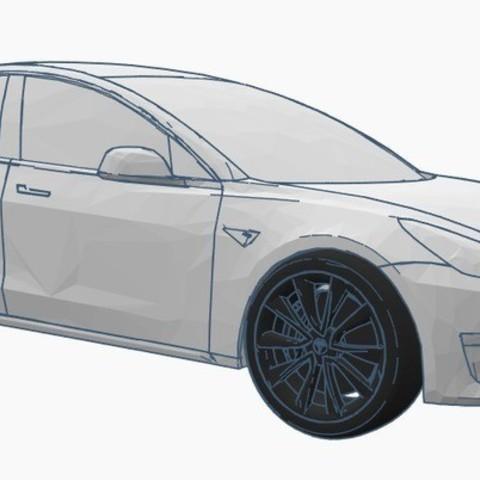 Download free 3D printer designs TESLA MODEL 3, Gophy