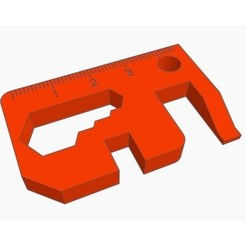 Free 3d printer designs Multi Tool Keychain Card, Gophy