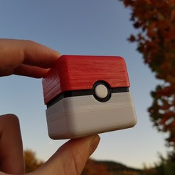 Download free 3D printer templates Pokebox - Mini Pokeball Box, Gophy