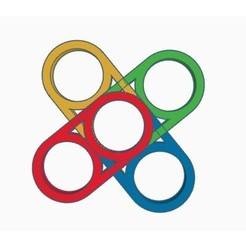 Free 3d model Duble / Quadruple Fidget Spinner, Gophy