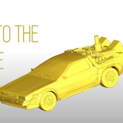 Download free 3D printer files PRINTABLE DeLorean DMC-12 - Back to the future- normal, Gophy