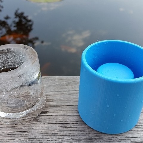 b24c67515e38cce6fd14c4b74dd964d2_display_large.jpg Download free STL file Ice Shot Glass Mold V3 • Template to 3D print, Gophy