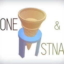 Free stl files Easy washable cone + Stand, Gophy