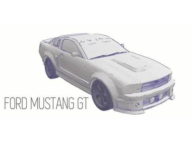 13a33a39a1097a7fb2f6dc1e83a75689_preview_featured.jpg Télécharger fichier STL gratuit Ford Mustang GT - Modèle 1:64 • Modèle à imprimer en 3D, Gophy