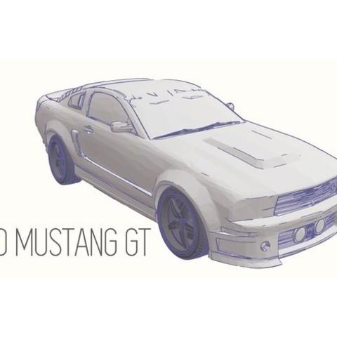 Télécharger modèle 3D gratuit Ford Mustang GT - Modèle 1:64, Gophy