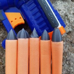 Free STL NERF Darts - Custom Tips, Gophy