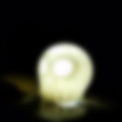 skullywhole.stl Download free STL file Skully Phone Flash Disperser • 3D print design, Gophy