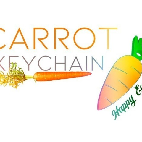 a290c1cad6aa1ca8377ba1c68a0e1280_preview_featured.jpg Download free STL file Carrot Keychain ! • 3D printable design, Gophy