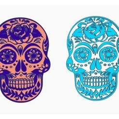 Download free 3D printing templates Skull - Day of the Dead, Gophy