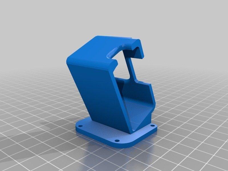 010f818b91c0b4d7a9a6cb102c539ec3_display_large.jpg Download free STL file GepRC Mark II Gopro HERO 7 Mount • 3D printable template, Gophy