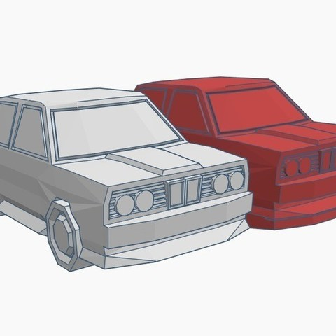 Download free 3D printing designs Low Poly Rally Car (Fixed), Gophy