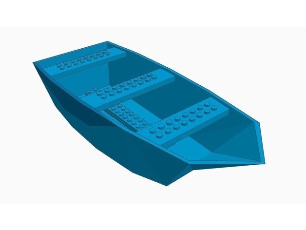 c7da2202001ef3739c67954b4c9dbb31_preview_featured.jpg Download free STL file Lego boat hull • Template to 3D print, Gophy