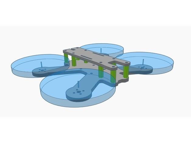 "59d8e5f0f6f43de10ff5638aab073801_preview_featured.jpg Download free STL file QAV-R 120H - 2.5"" Frame • 3D print design, Gophy"