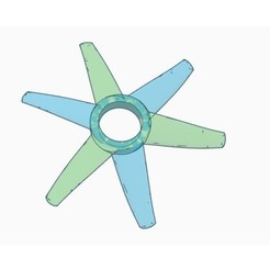 Free 3d printer model Propeller Fidget Spinner - 6 leaf, Gophy