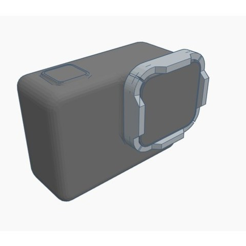 5c7ad976832d53851c5454cf8f859ce1_preview_featured.jpg Download free STL file GoPro Hero 5 / Hero 6 - Lens protector • Template to 3D print, Gophy