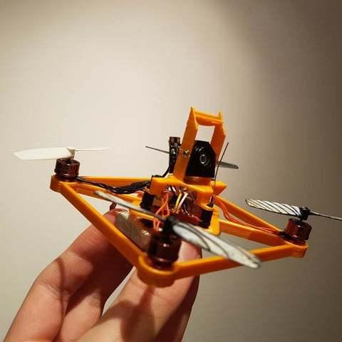 "Download free 3D printing templates GR1FF - 3"" Frame - 110x Motors, Gophy"