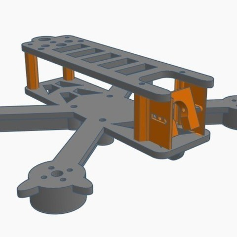 "Download free 3D printer templates TTGT S 120mm - 2.5"" Freestyle Frame, Gophy"