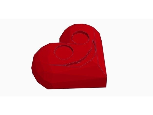 cc25d6c92c86016ea84c7077cadcfe1b_preview_featured.jpg Download free STL file Low Poly Valentine Day Heart • Template to 3D print, Gophy