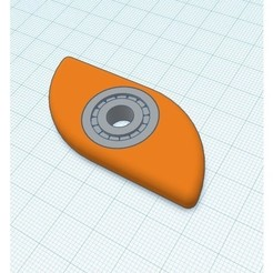 Free stl file bearing W/ spinner, Gophy
