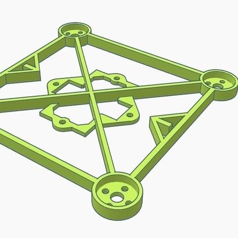 """Download free 3D printing designs GR1FF 2.5"""" V2 Frame - 110X Motors, Gophy"""