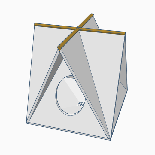 Download free 3D printer model A-Frame Bird House / Feeder - Tweaked, Gophy