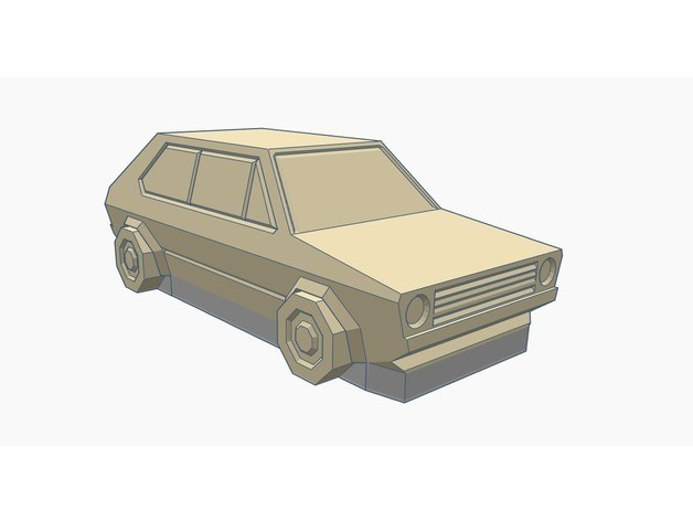 c32a8916dffb0d1874c50eae1337469e_preview_featured.jpg Download free STL file Volkswagen Golf GTI - Low Poly Miniature - No supports needed • Design to 3D print, Gophy