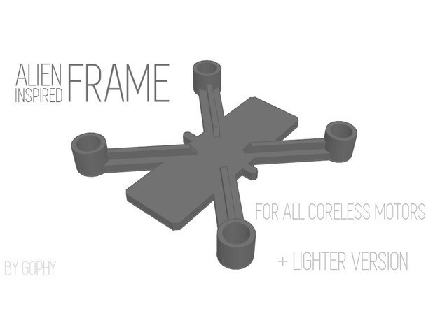e04fad7c3090c06470422c5dd8bc87da_preview_featured.jpg Download free STL file Drone Frame for all motor sizes ! - 6mm,6.5mm,7mm,7.5mm,8mm,8.5mm • 3D printable model, Gophy