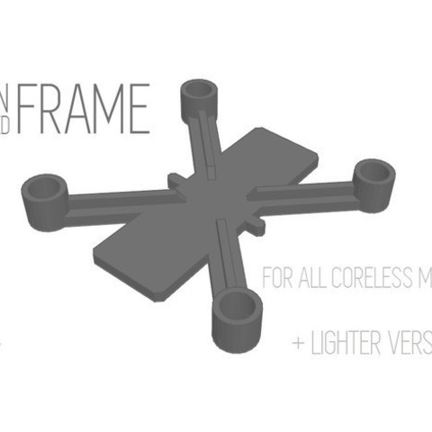 Download free 3D printer designs Drone Frame for all motor